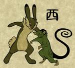 Wood Rabbit VS Wood Rat