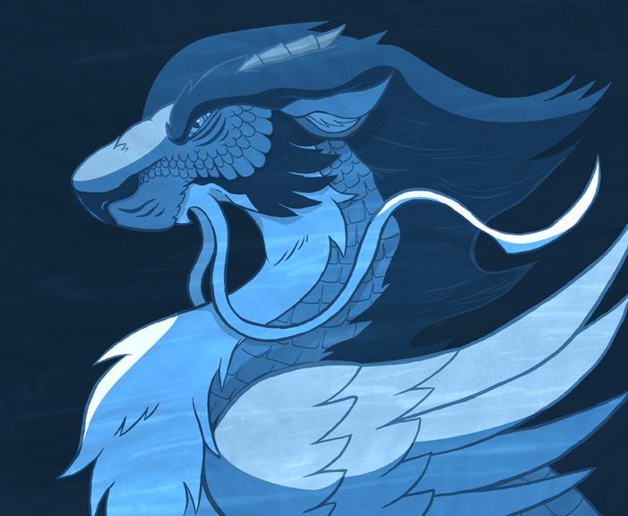 Blue China Dragon by Furrama