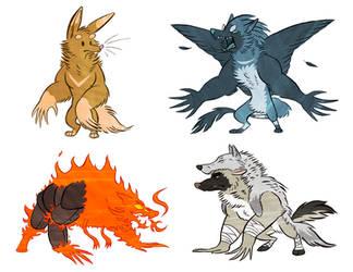 Werewolfed OCs by Furrama