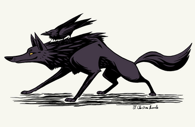 Wolf and Raven