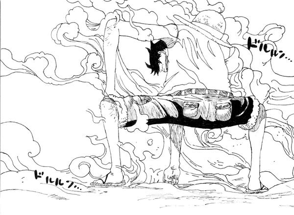 One Piece Lineart : Luffy gear fourth lineart by triplexmooie lineart: one piece