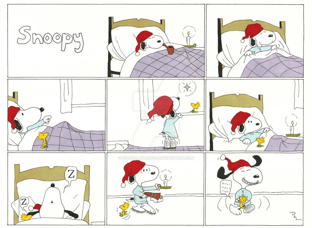 Snoopy Comic Strip by RuthALawrence