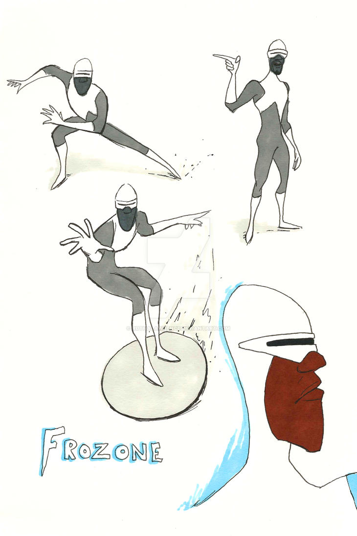Frozone sketch page by RuthALawrence