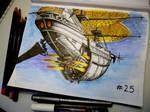 Inktober 25 - Ship