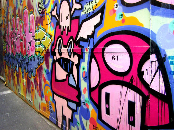 graffiti melbourne by cassiwoo