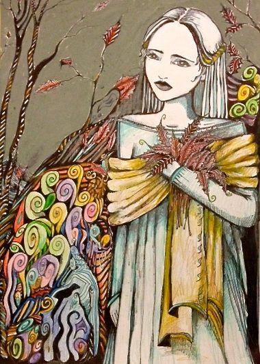 Girl in Shawl by Kaayia