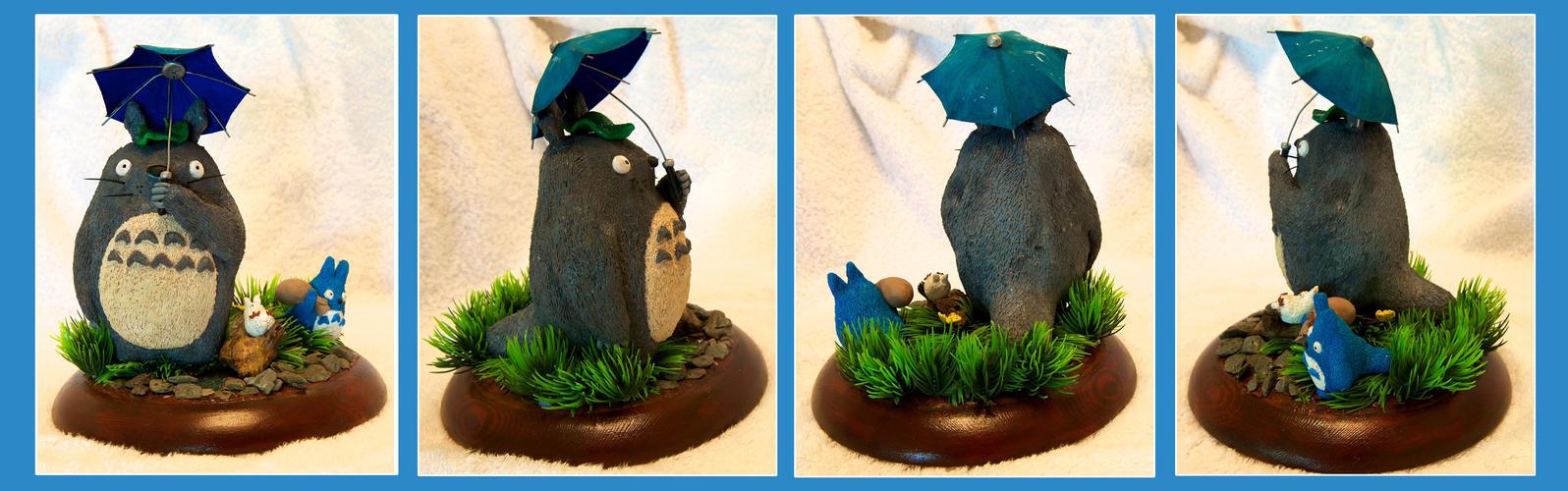 Handmade Totoro Diorama by Kem2000