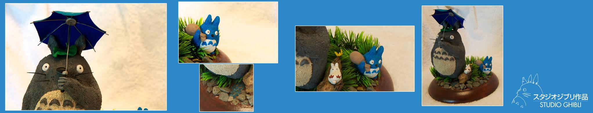 Handmade Totoro Diorama Details