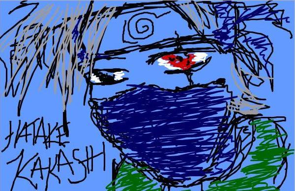 Scribbly Kakashi by mithua