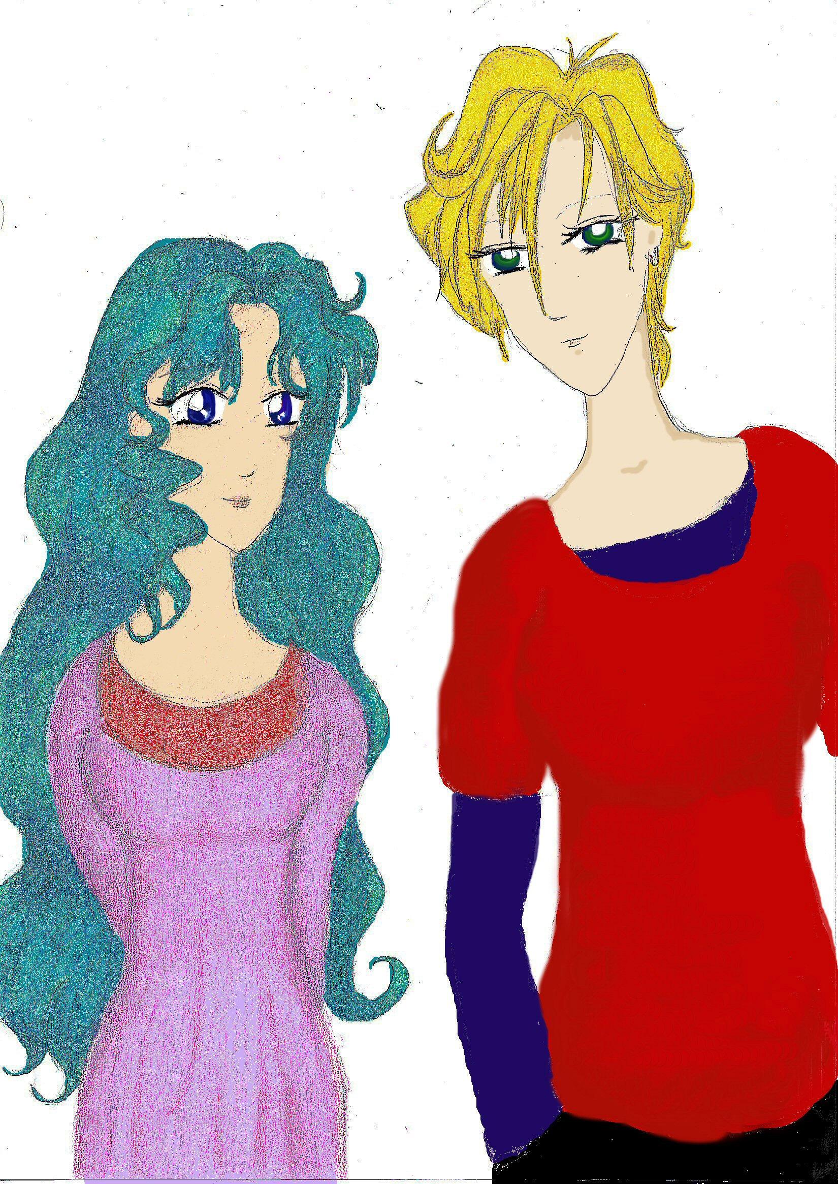Haruka and Michiru by mithua