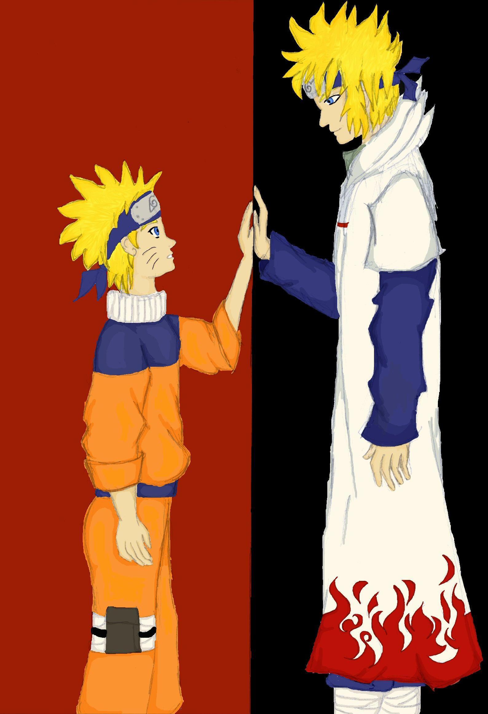 Naruto and Yondaime by mithua