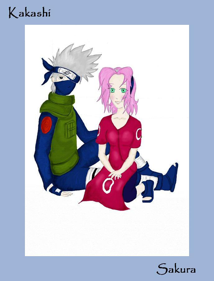 Kakashi and Sakura by mithua