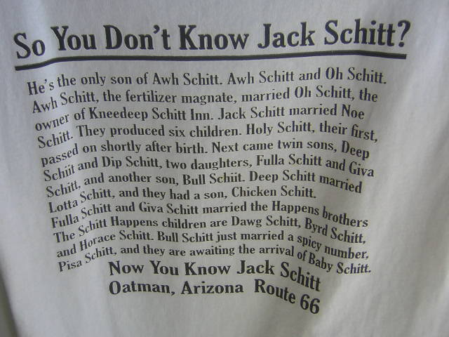So You Don't Know Jack Schitt? by missoliverandblossom