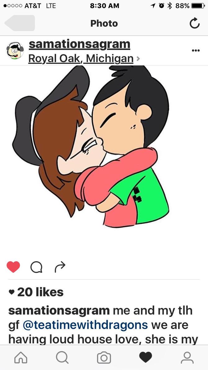 Sam and Kayla kiss by legocreepers1234