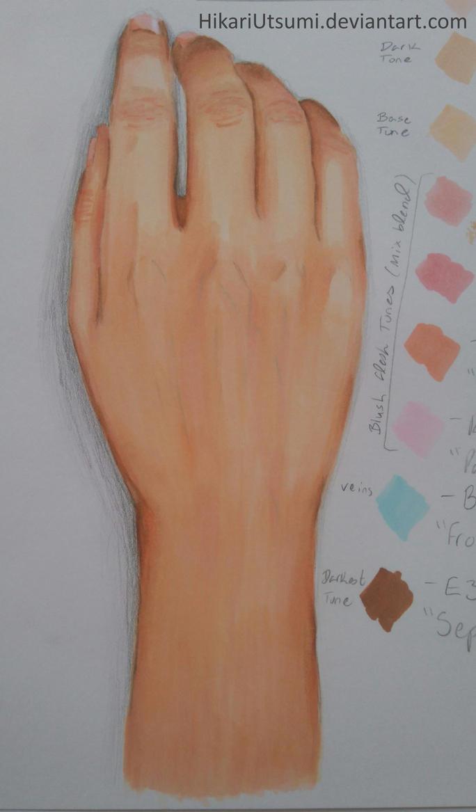 Hand and Wrist Study - Copic Markers by HikariUtsumi