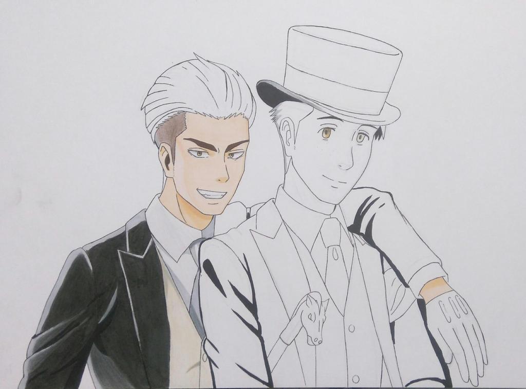 (WIP) Jean + Marco by HikariUtsumi