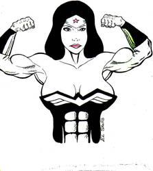 Wonder Woman double bicep pose by TheHurc