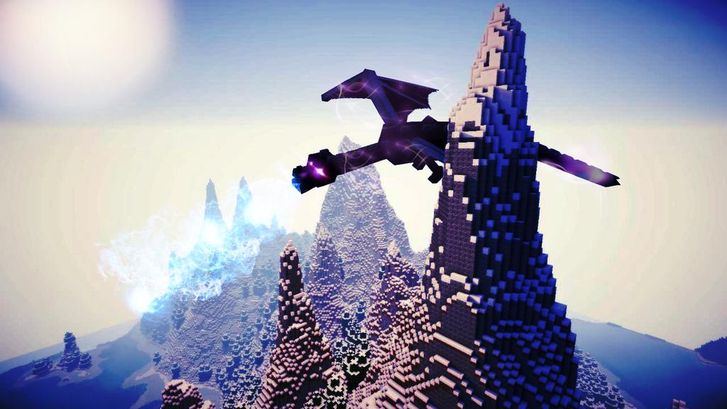 Ender Dragon Photo Mountage By ClaudsArt