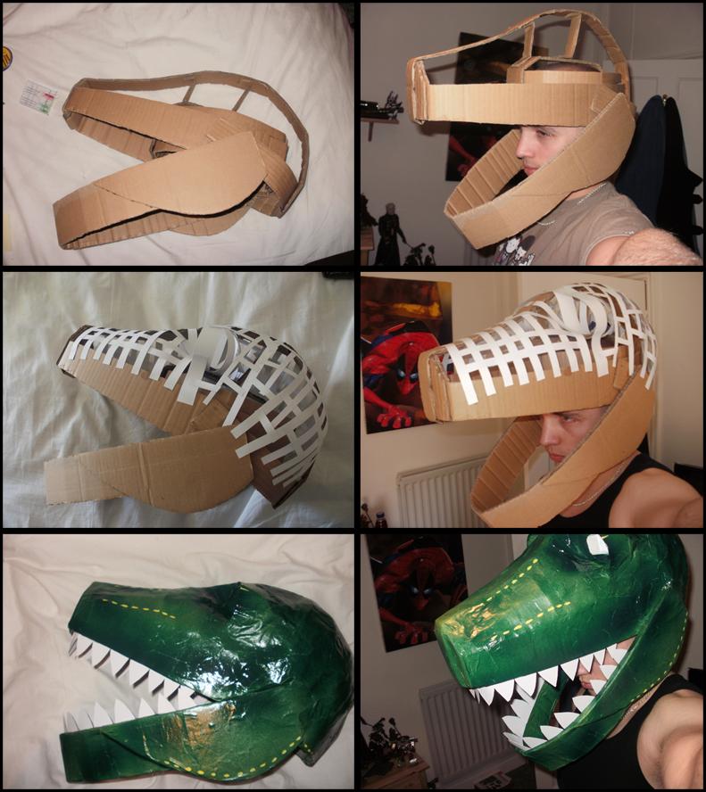 Как сделать маску динозавра из бумаги своими руками