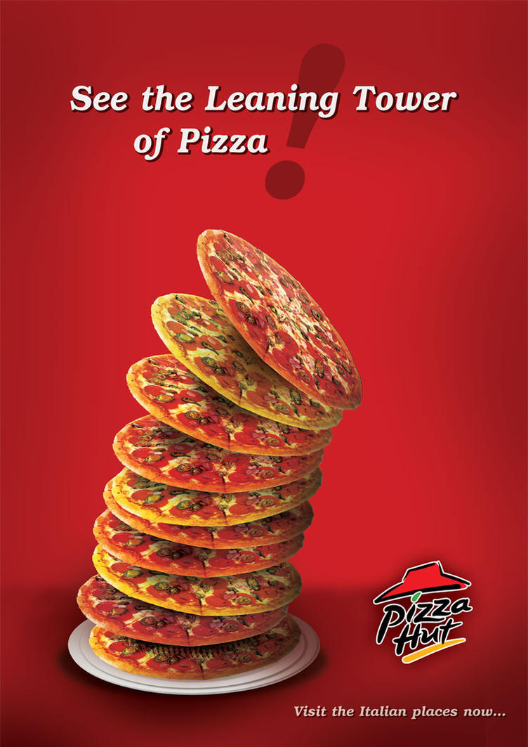 Pizza Hut Advertising Poster by Sozokai