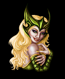 Amora portrait - H + V by killingarkady