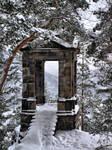 Pavillon on the mountain
