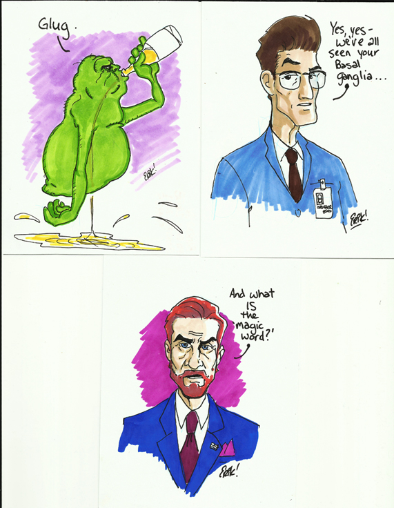 First Three Ghostbusters Postcards