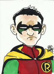 Damian Wayne sketch card by erikburnham