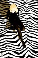 Zebra girl by Vranckx