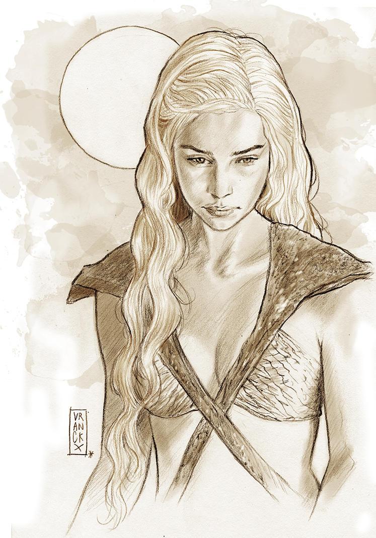 Daenerys Targaryen The Mother Of Dragons By Vranckx On