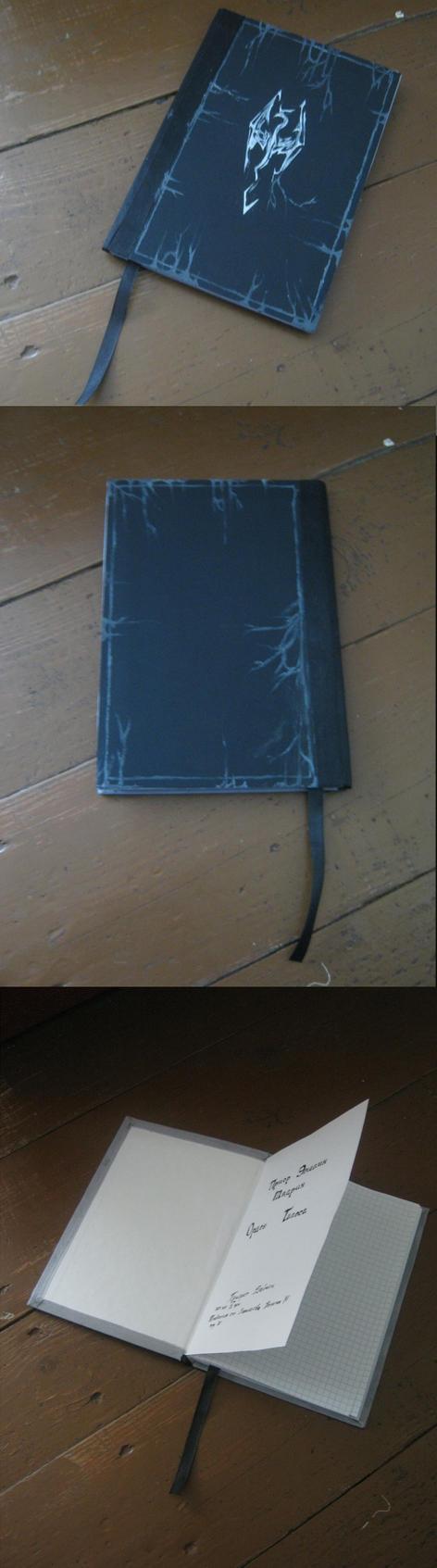 Skyrim - Handmade Notebook by KlodwigLichtherz