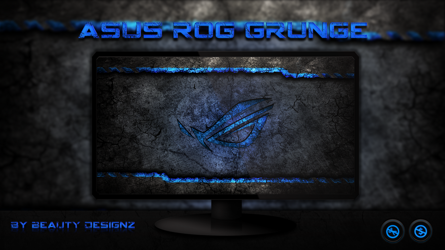 ASUS ROG Grunge Blue