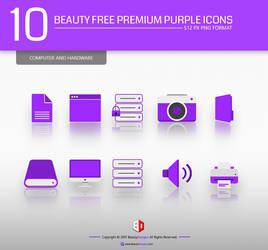 10 BEAUTY FREE PREMIUM PURPLE ICONS
