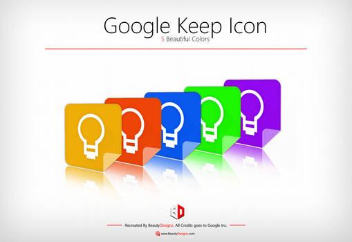 Google Keep Icon [5 Beautiful Colors]