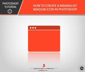 PHOTOSHOP TUTO 1 : How to create a minimalist icon