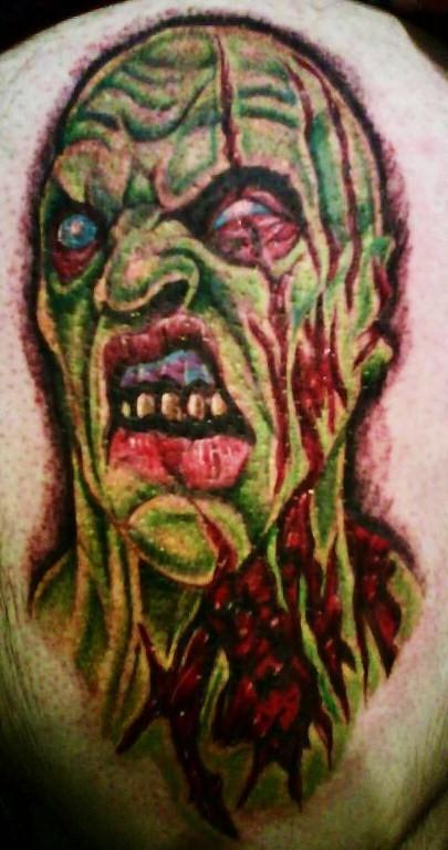 zombie tattoo. zombie tattoo by ~justinstorm