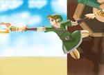 Link with double crawshot - Skyward Sword