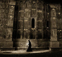 A woman between saints v2 by BaciuC