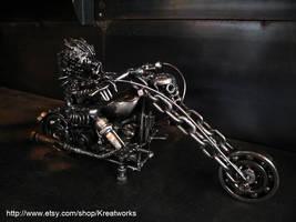 Metal Predator on Motorcycle by Kreatworks