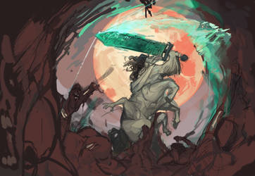funnie horse by OkamiWolvenart