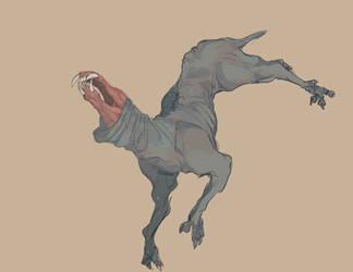 tindalos hound by OkamiWolvenart