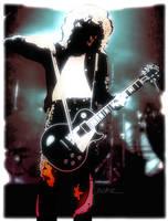 Jimmy Page, violin bow by Cynthia-Blair