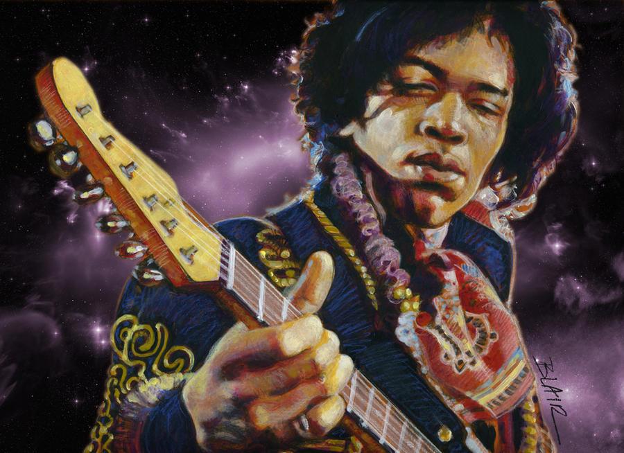 Jimi Hendrix by Cynthia-Blair