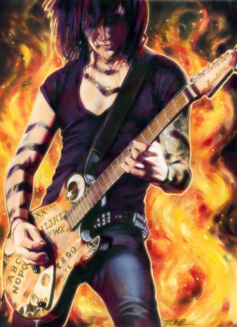 Jinxx and the Ouija Board Guitar