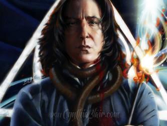 Severus Snape, detail by Cynthia-Blair