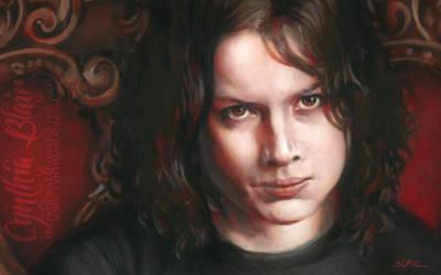 Jack White portrait detail by Cynthia-Blair