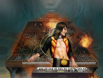 Keith Emerson, ELP by Cynthia-Blair