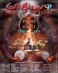 Carl Palmer 2014 UK World Tour poster