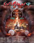 Carl Palmer 2014 UK World Tour poster by Cynthia-Blair