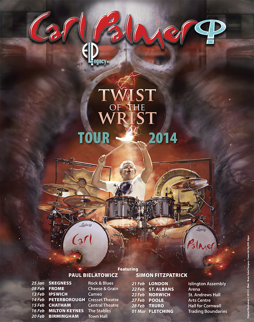 Carl Palmer 2014 UK World Tour poster